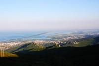 Baie de Bastia et étang de Biguglia depuis le col de Teghime