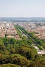 L'avenue Jean Jaurès depuis le haut de la tour Magne