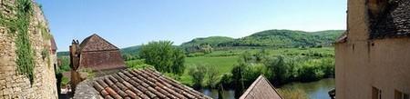 Périgord Dordogne > Vue depuis la montée au château de Beynac