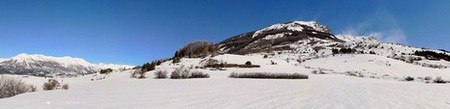 Montagne > Alpes - Les Orres, chemins enneigés (360°)