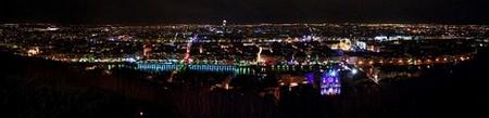 Lyon > Fête des Lumières 2008 depuis Fourvière