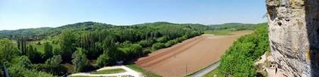 Périgord Dordogne > Vue depuis la maison forte de Reignac