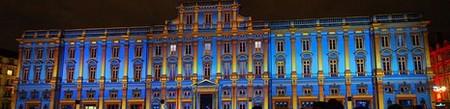Lyon > Fête des Lumières 2008, place des Terreaux et musée des Beaux-Arts